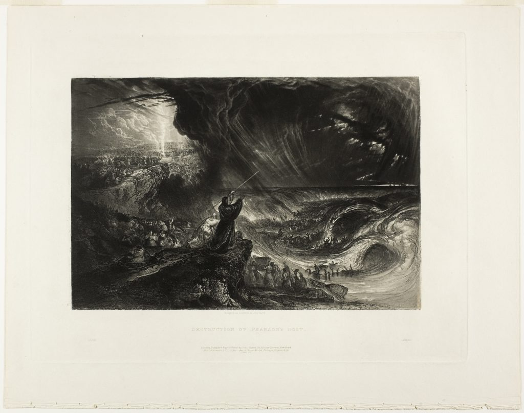 Destruction of the Pharoah's Host, from Illustrations of the Bible by John Martin. Published 1833. Acquired 1991.
