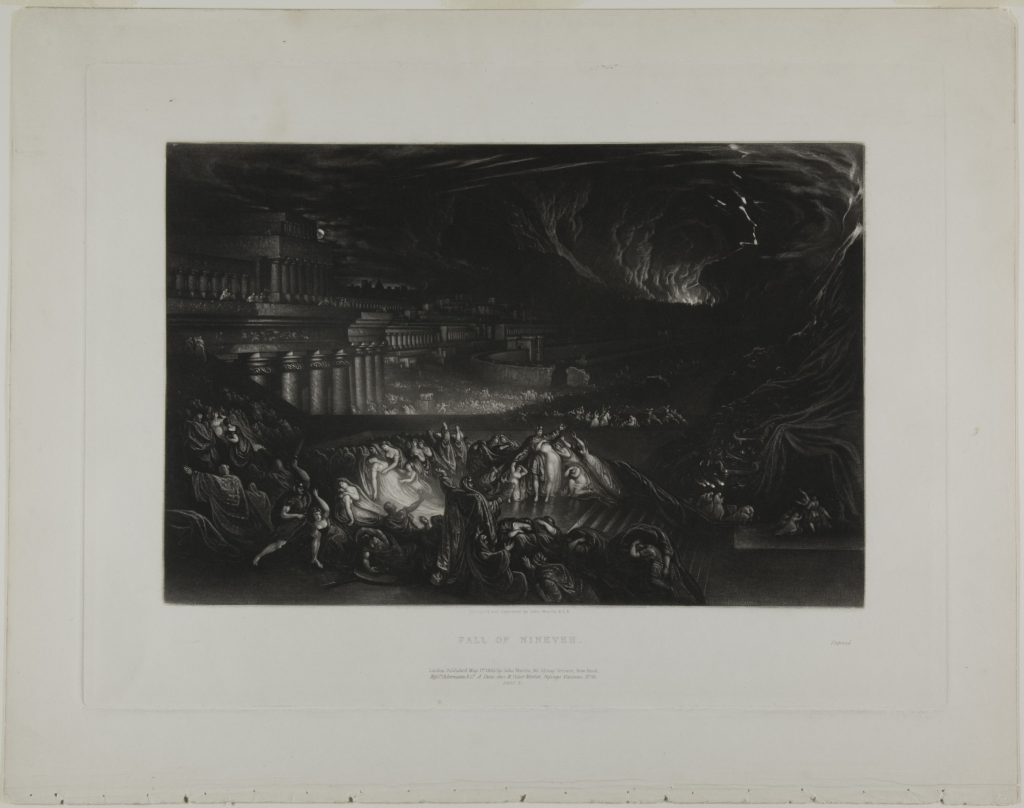Fall of Nineveh, from Illustrations of the Bible by John Martin. Printed 1835. Acquired 1991.