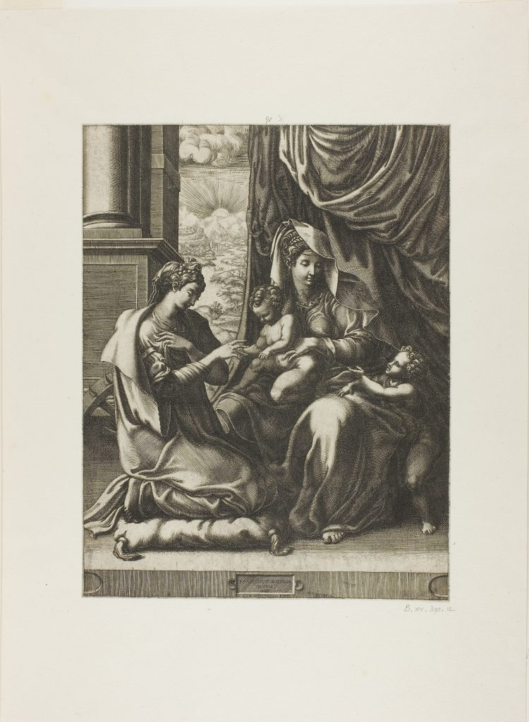 The Mystic Marriage of Saint Catherine by Giorgio Ghisi. 1555/57. Acquired 1992