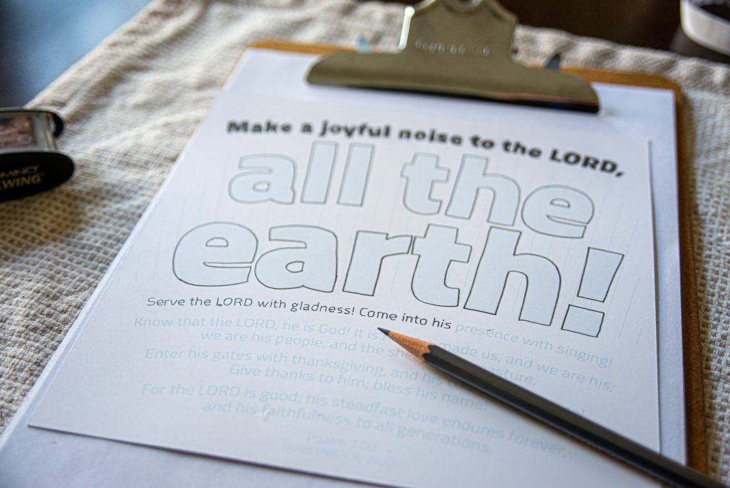 "Penciling in ""all the earth"" of Psalm 100"