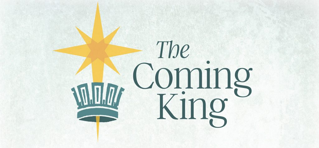 """Cover of 2018 Advent devotional: """"The Coming King"""""""