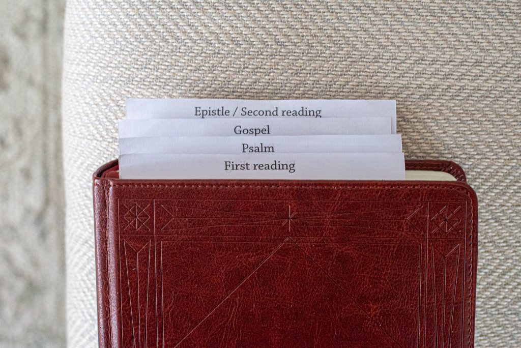 Lectionary bookmarks for: 1st reading, Psalm, Gospel, 2nd reading
