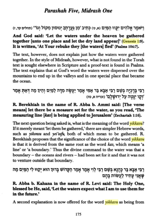 """The Creation According to the Midrash Rabbah"", page 175"